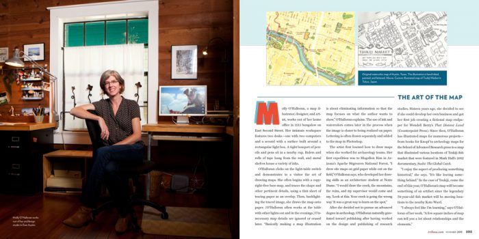 Custom maps in Tribeza magazine