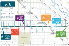 Chicago's The 606 maps