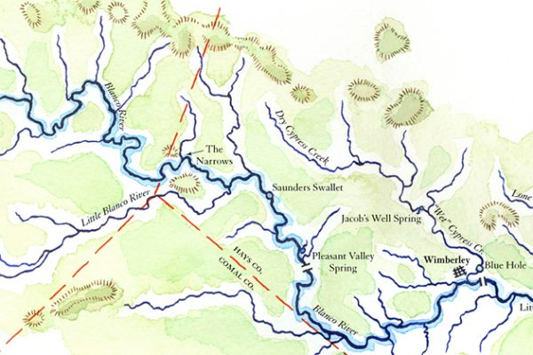 Blanco River map