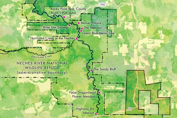 Neches River maps