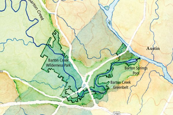 Barton Creek map